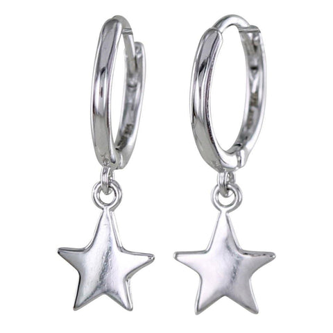 Sterling Silver Sleepy Star Hoop Earrings - insideout-home