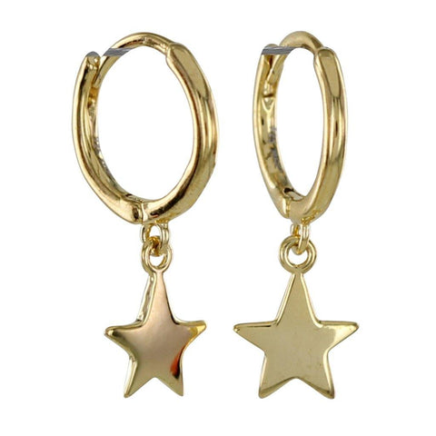 Gold Vermeil Sleepy Star Hoop Earrings - insideout-home