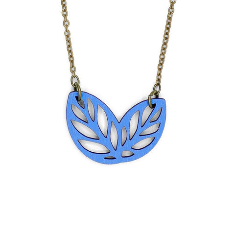 Ribbon Bush Necklace Blue - insideout-home