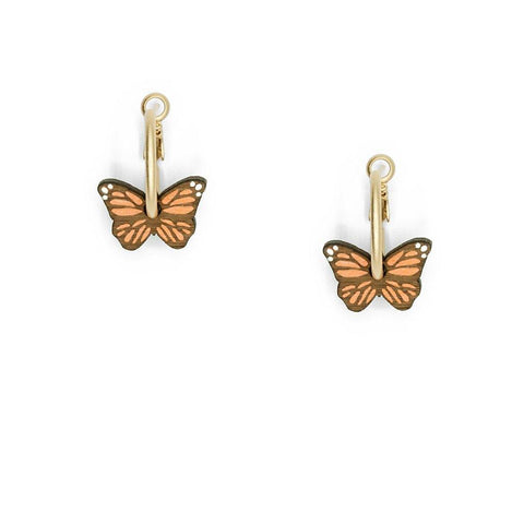 Little Butterfly Hoop Earrings - insideout-home