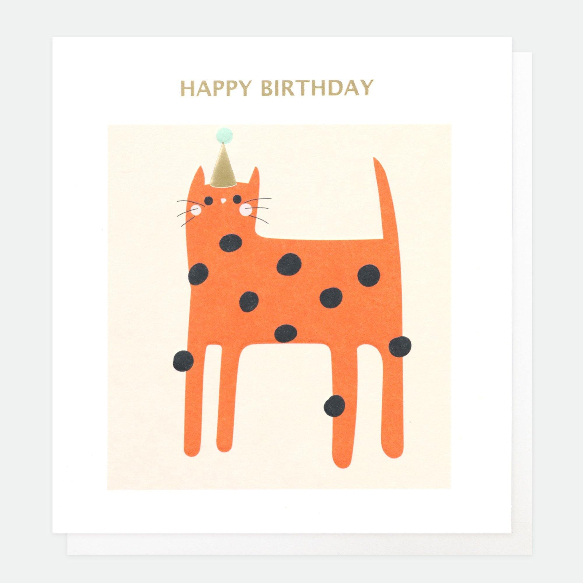 Happy Birthday Cat Card, Greeting & Note Cards by Insideout