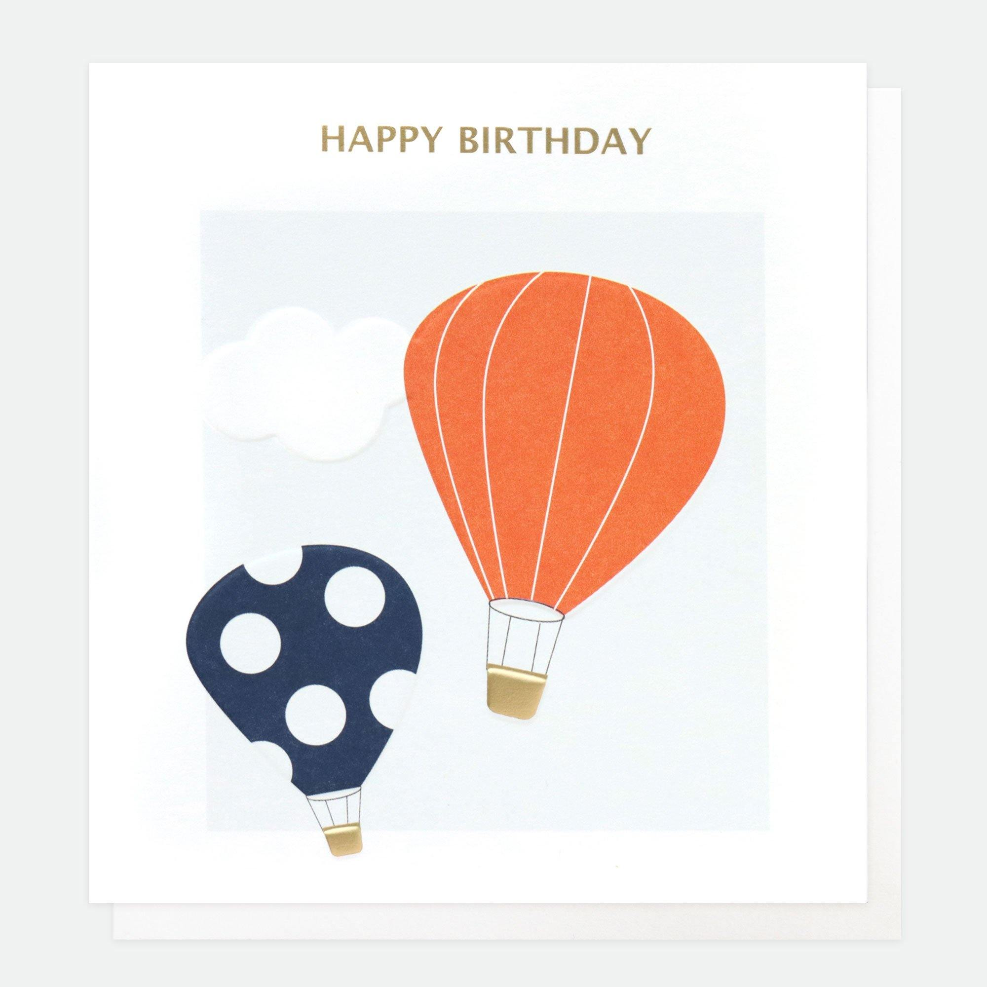 Happy Birthday Hot Air Balloons, Gift Giving by Insideout