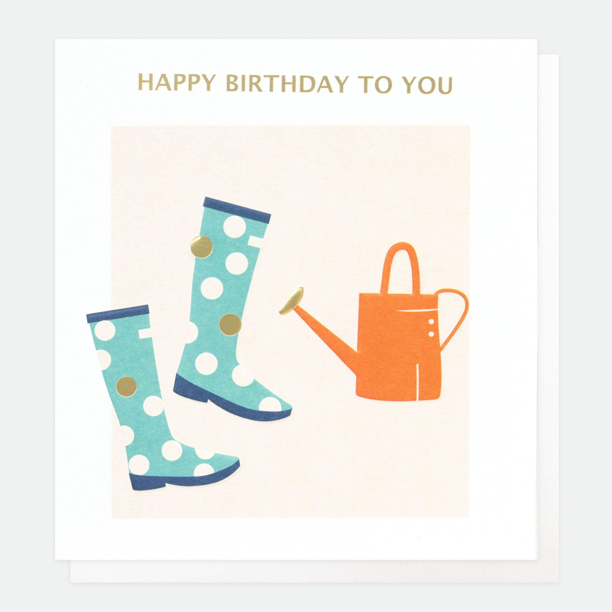 Happy Birthday To You Wellies, Greeting & Note Cards by Insideout