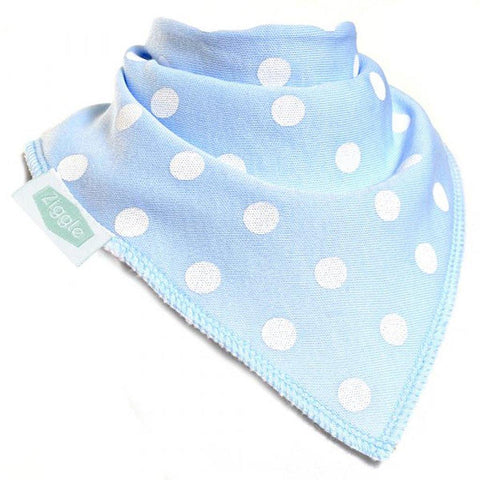 Polka Dots Dribble Bib Light Blue
