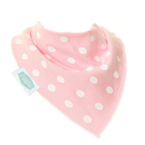 Polka Dots Dribble Bib Light Pink & White