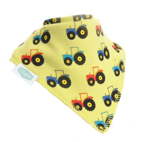Tractor Print Dribble Bib - insideout-home
