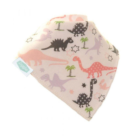 Pink And Lilac Dinosaur Dribble Bib - insideout-home