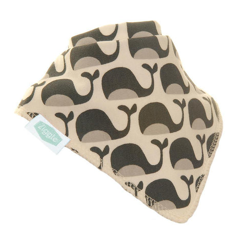 Grey Whales Dribble Bib - insideout-home