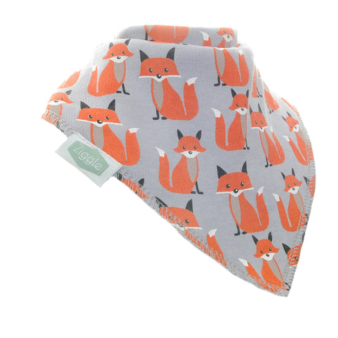 Foxes On Grey Dribble Bib - insideout-home