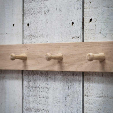 Hambledon 3 Peg Rail Raw Oak - insideout-home