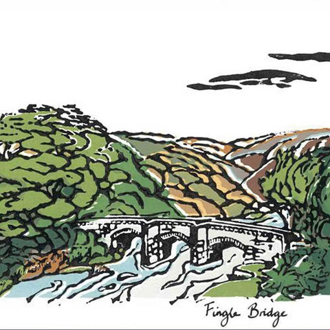 Fingle Bridge Greetings Card - insideout-home
