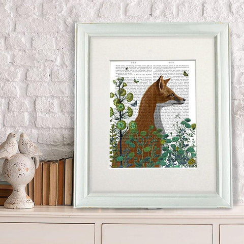 Fox In The Garden Print - insideout-home