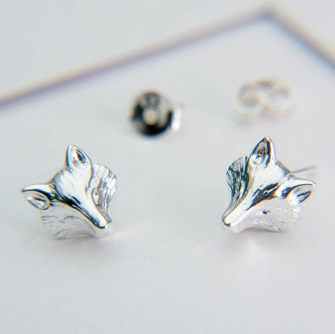 Fox Mask Sterling Silver Studs - insideout-home