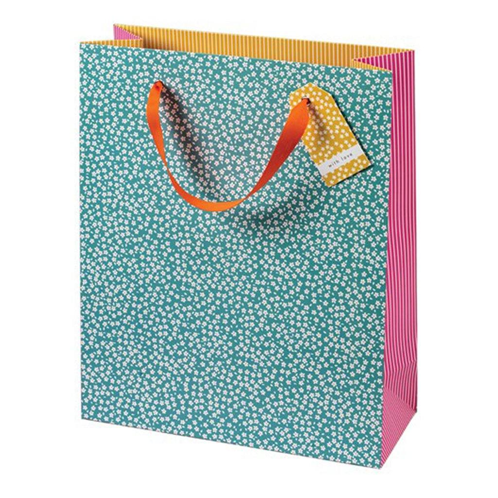 Cherry Blossom Ditsy Flowers Gift Bag Large, Gift Bags by Insideout