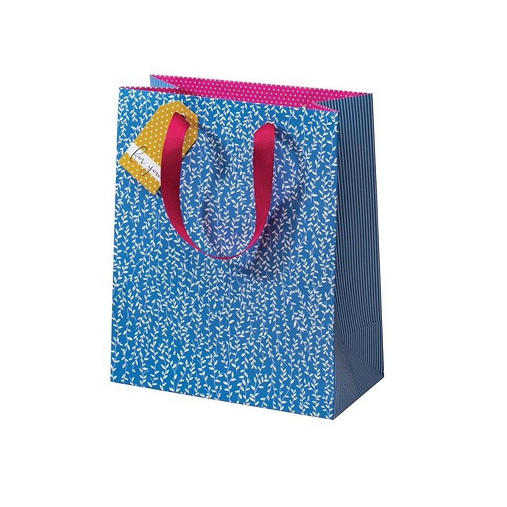 Cherry Blossom Blue Willlow Gift Bag Medium, Gift Bags by Insideout