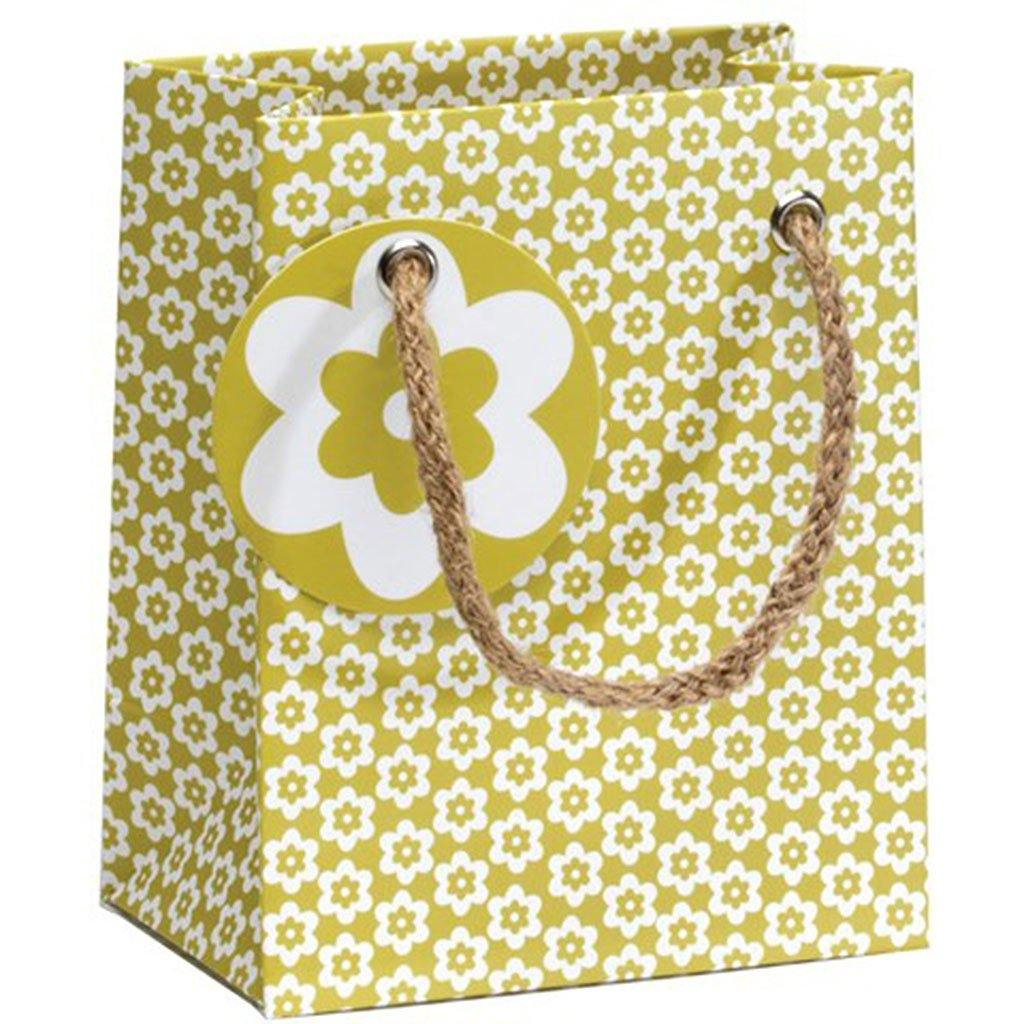 Cornflower Green Ditsy Small Gift Bag, Gift Wrapping by Insideout