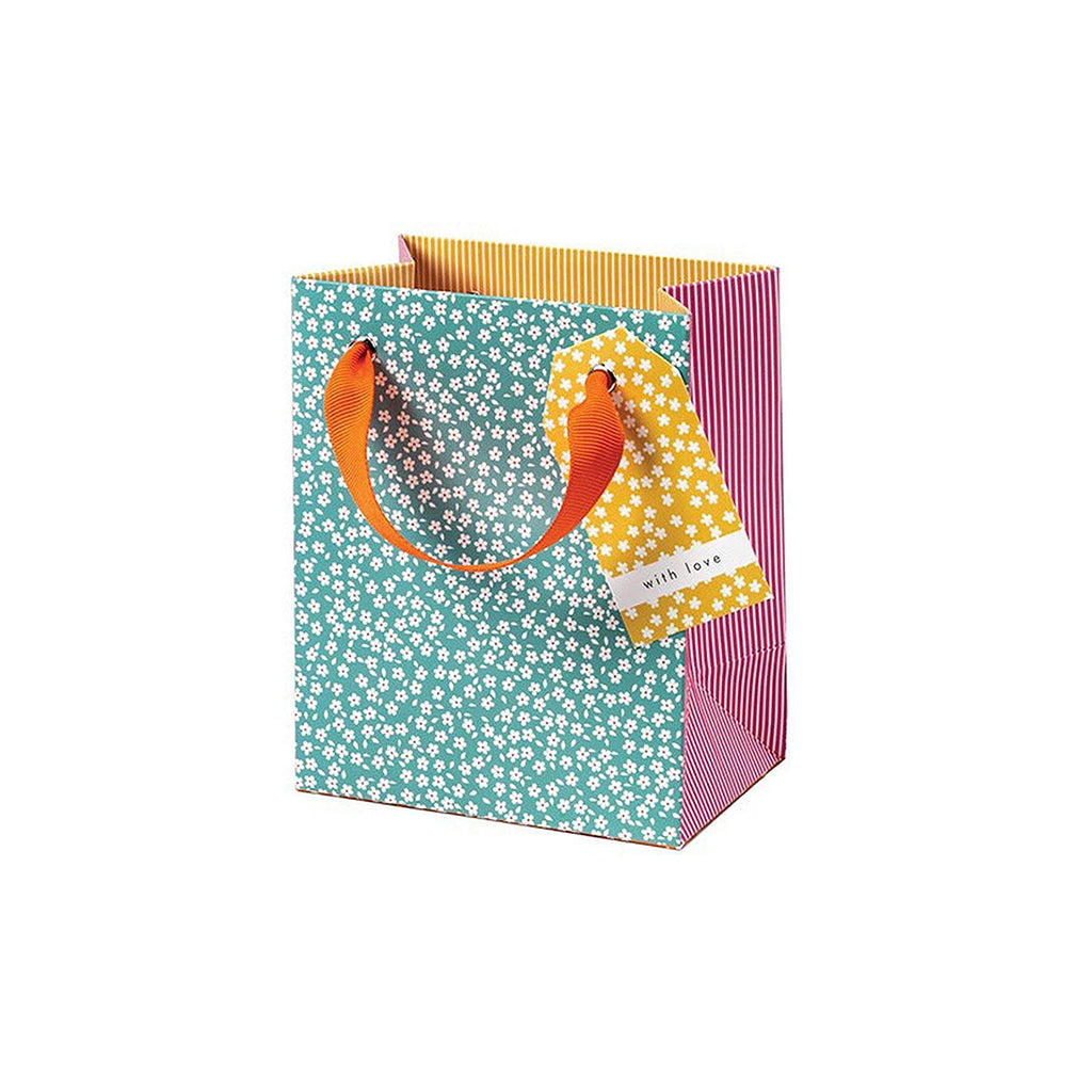 Cherry Blossom Ditsy Flowers Small Gift Bag, Arts & Entertainment by Insideout