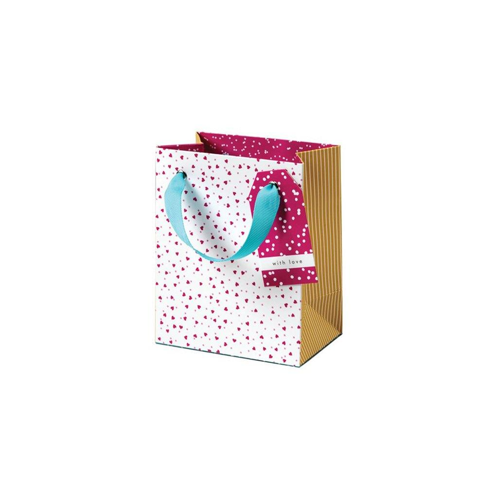 Cherry Blossom Ditsy Hearts Small Gift Bag, Gift Bags by Insideout