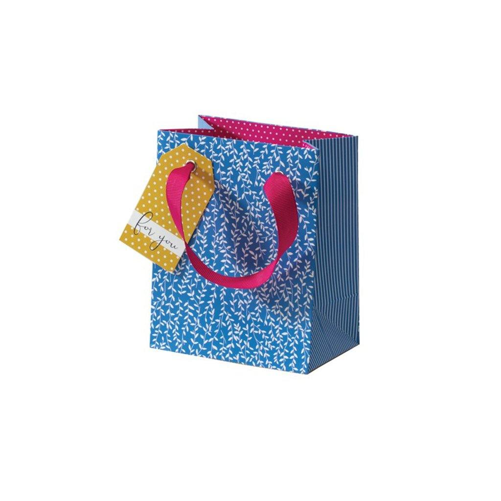 Cherry Blossom Blue Willow Small Gift Bag, Gift Wrapping by Insideout