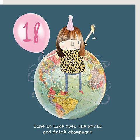 18 Take Over World Birthday Card - insideout-home