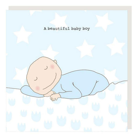 A Beautiful Baby Boy Card
