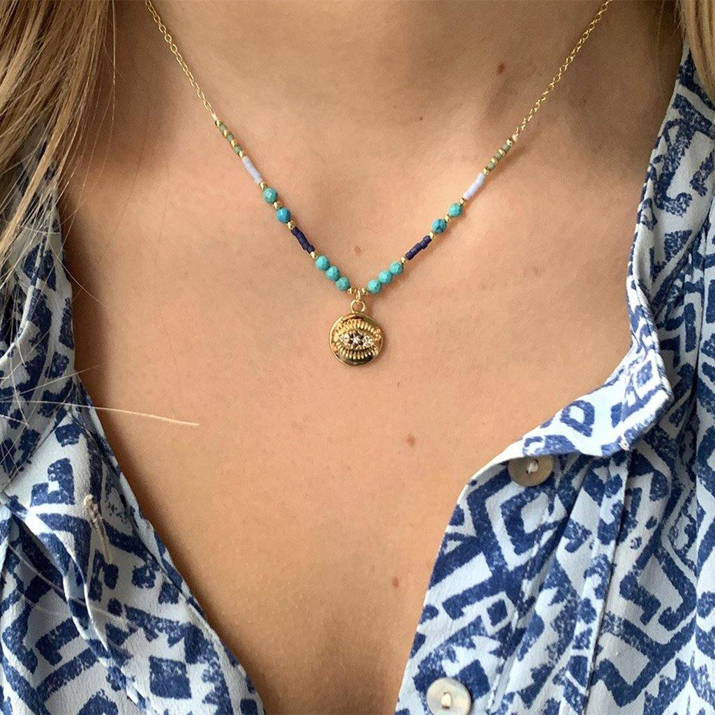 Fortuna Necklace Blue by  Insideout