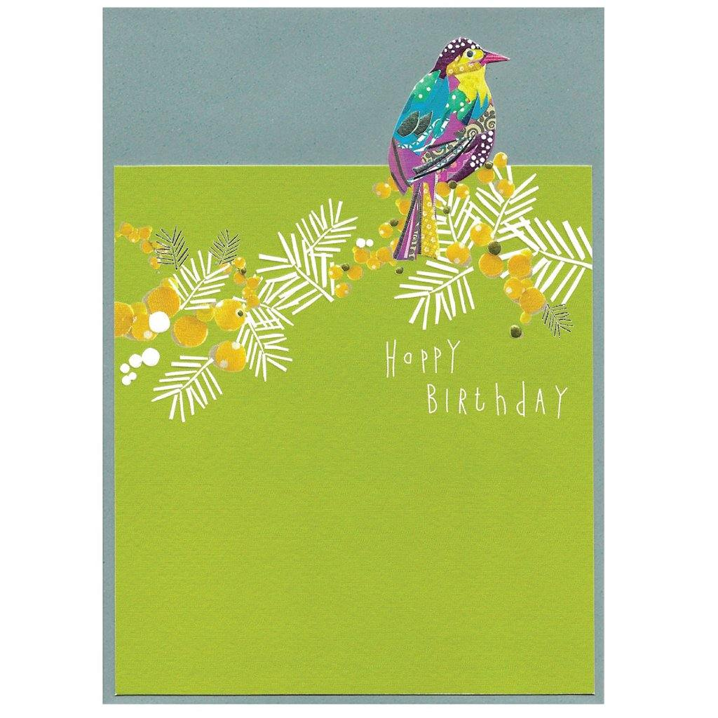 Happpy Birthday Bird & Flowers Card, Arts & Entertainment by Insideout