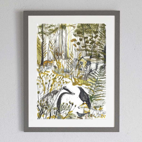 The Badger and The Crow Framed Print - insideout-home