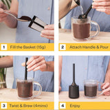 Brew It Stick Coffee & Tea Infuser - Charcoal - insideout-home