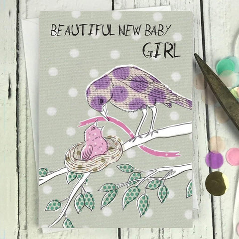 IC16 Beautiful New Baby Girl Card - insideout-home