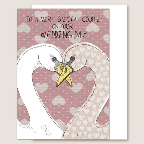 IC19 Swan Wedding Day Card