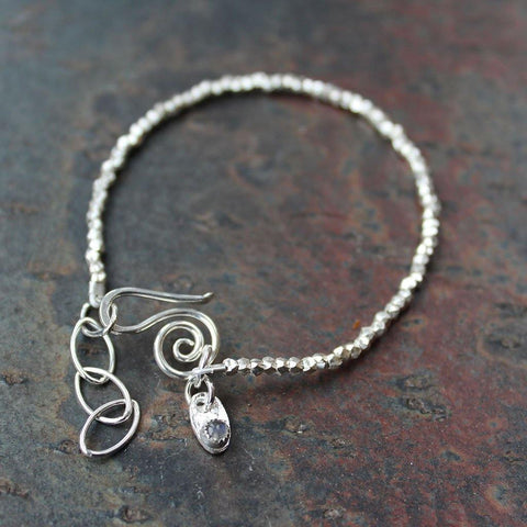 Sterling Silver Mini Laboradite Nugget Bracelet - insideout-home