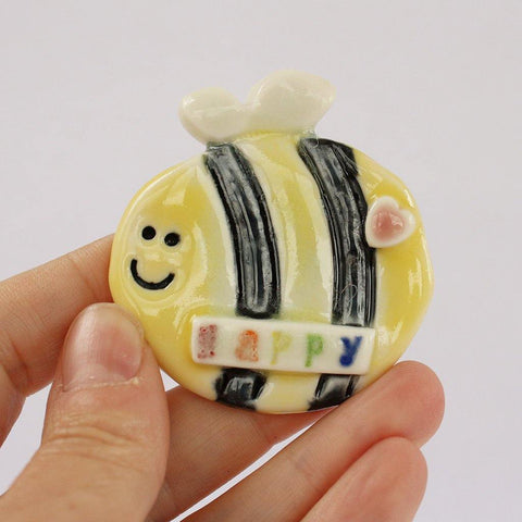 Porcelain Bee Magnet - insideout-home
