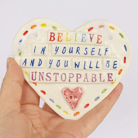 Believe In Yourself Large Hanging Heart - insideout-home