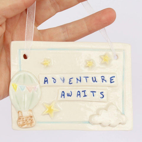 Adventure Awaits Rectangular Porcelain Hanging - insideout-home