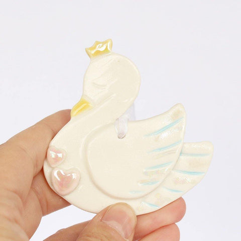 Swan Porcelain Hanging Decoration - insideout-home