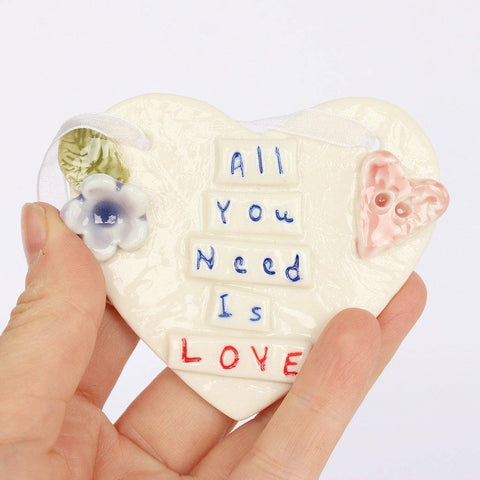 All You Need Is Love Porcelain Heart - insideout-home
