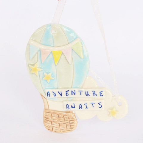 Balloon Adventure Awaits Porcelain Hanging - insideout-home