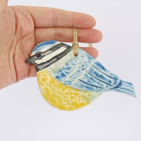 Blue Tit Bird Porcelain Hanging - insideout-home