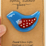 Handmade Bird Fused Glass Brooch - insideout-home