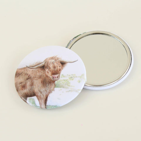 Highland Cow Compact Mirror - insideout-home