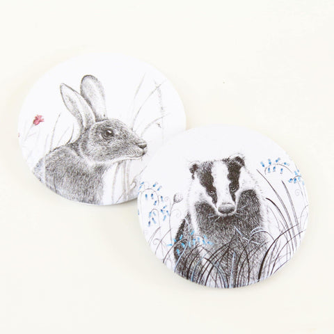 Rabbit or Badger Compact Mirror - insideout-home