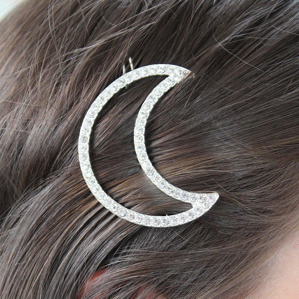 Crystal Moon Hair Slide by  Insideout