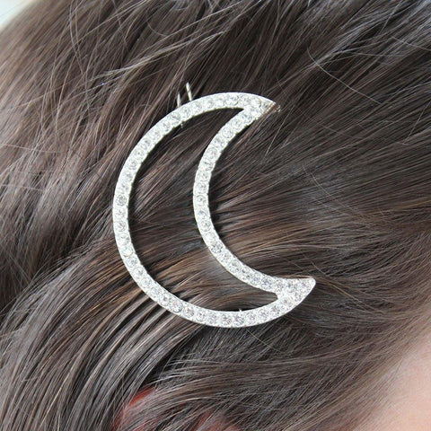 Crystal Moon Hair Slide