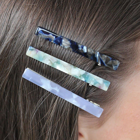 Pack Of 3 Hair Slides Blues
