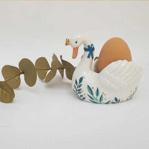Secret Garden Swan Egg Cup - insideout-home