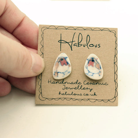 Robin Ceramic Earrings Handpainted In Devon - insideout-home