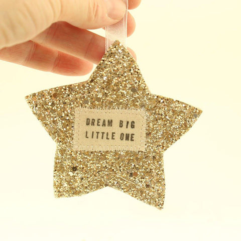 Gold or Silver Star Dream Big Little One Hanging - insideout-home