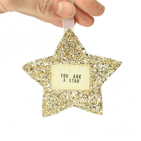 You Are A Star Or Believe Gold Star Hanging - insideout-home