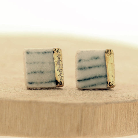 Monochrome Square Ceramic Earrings - Insideout